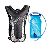 Mobihome Hydration Backpack Lightweight Sport Daypack & Bike Backpacks with 2L Leak Proof Water Bladder, Adjustable Padded Shoulder, Chest & Waist Straps for Running, Hiking, Cycling, Climbing