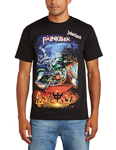Rocks-off Herren Judas Priest Painkiller T-Shirt, Schwarz, XXL