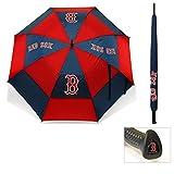 Team Golf MLB Boston Red Sox 62' Golf Umbrella with Protective Sheath, Double...