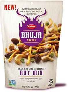 BHUJA Nut Mix, 7-Ounce Bags (Pack of 6)
