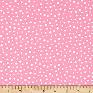 Susybee Irregular Dot Pink Fabric by The Yard