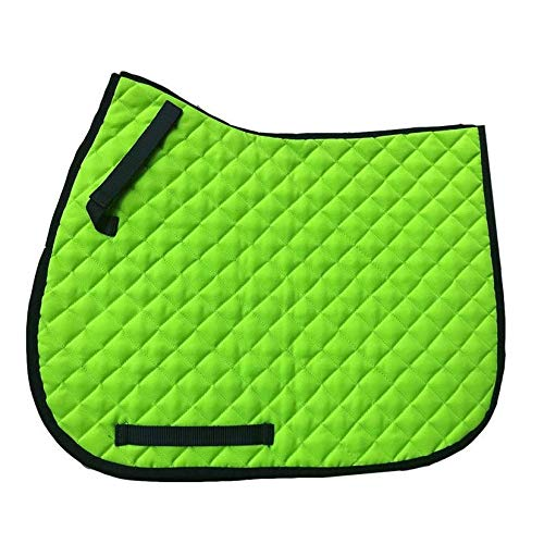 GS Equestrian Unisex's General Purpose Saddle Pad, Neon Green, One Size