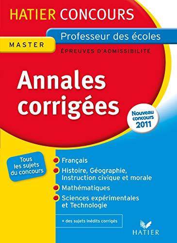 Hatier Concours Annales 2011 épreuves d'admissibilité