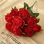 Jasion-Artificial-Roses-Flowers-10-Heads-Arrangement-Silk-Bouquet-Glorious-Moral-for-Home-Office-Parties-and-Wedding-Decoration-Red
