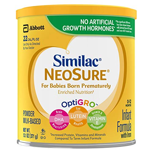 Similac NeoSure Infant Formula with Iron For Babies Born Prematurely White, 78.6 Ounce (Pack of 6)