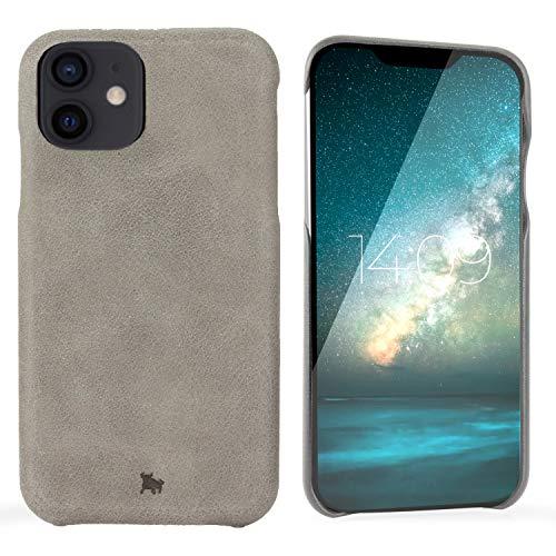 """BULLAZO Menor Classic - Compatible con el iPhone 12 Mini 5,4"""" Funda Protectora para teléfono móvil de Cuero XII, Gris"""