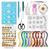 Hyber&Cara Quilling Kit Composto, 19 pcs Strumenti Quilling Set con 54 Colore 900 Strisce di Carta e Stampo