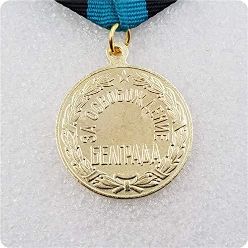 WERTY Medalla soviética de la Segunda Guerra Mundial LA LIBERACIÓN DE BELGRADO Orden de Medalla URSS Rusia Copia