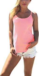 a256e60da4 Saoye Fashion Camisetas Mujer Tirantes Chaleco Verano Elegantes Basicas  Casual Playa Camisetas Sin Mangas Cruzadas De