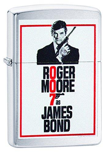 Zippo James Bond Feuerzeug, Messing, Chrom, 5.5 x 3.5 x 1 cm