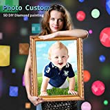 Custom Diamond Painting Kits for Adults with Your Photos, Customized Full Round Drills Diamond Art, Custom Personalized Picture for Home Wall Decor 11.8x15.7 inches