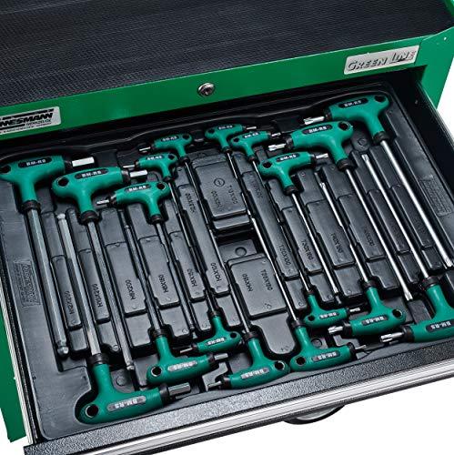 Brüder Mannesmann Werkzeug M28270 ,321-teiliger Werkstattwagen mit Werkzeugen in 6 Schubladen - 3