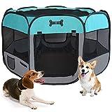 MC Star Portátil Parque Corral Oxford Cachorro Animales para Perros, Gatos,...