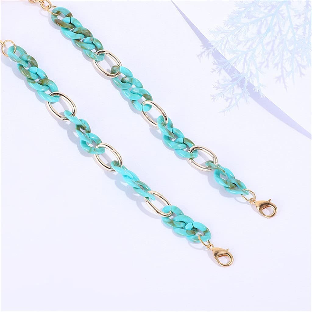 DIAOD Acrylic Buckle Chain for Glasses Sunglasses Straps Lanyards Women Men Neck Chains Holder Eyeglasses Accessories (Color : A, Size : Length-70CM)