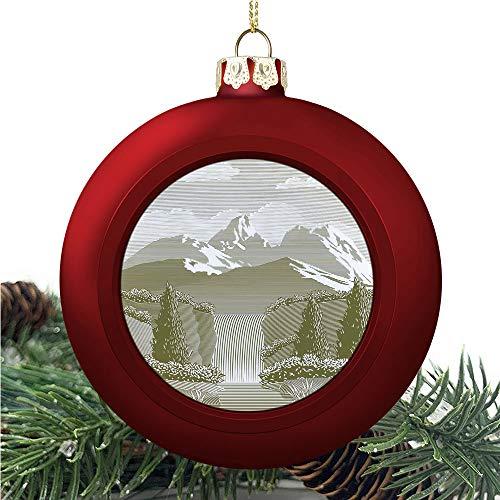 aosup Waterfall Woodcut Style/Christmas Ball Ornaments 2020 Christmas Pendant Personalized Creative Christmas Decorative Hanging Ornaments Christmas Tree Ornament №AM033609