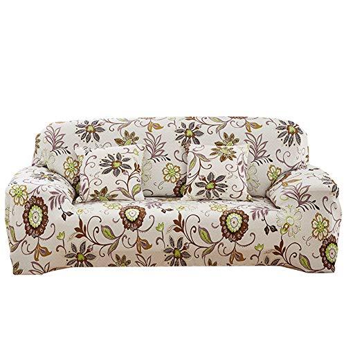 MISSMAO_FASHION2019 Sofabezug Sofaüberwurf Stretch Weich Elastisch Farbecht Blumen-Muster Staubdicht rutschfest für 1/2/3/4 Sitzer,Maschinenwaschbar Stil8 Kissenbezug(Mit Kern):45x45cm