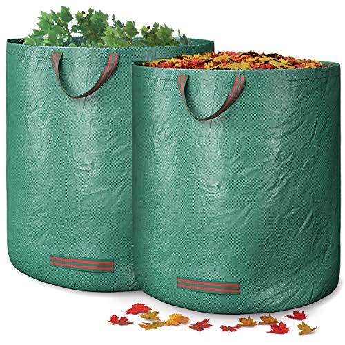 GardenGloss Sacchi Giardinaggio - Sacchi da Giardino - Sacchi da Giardinaggio -Sacco Giardinaggio - Sacco Erba Tagliata - Sacco per Foglie Giardino - Sacco per Giardino