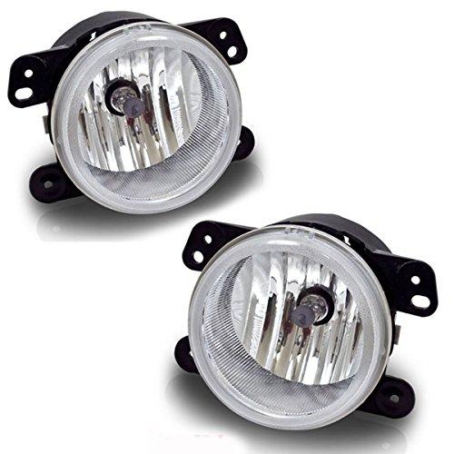 AUTOSAVER88 Fog Lights Compatible with Chrysler 300 Chrysler 300 3.5L Touring 2005-2010 PT Cruiser 2006-2009 Dodge Magnum 2005-2008 Journey 2009-2010 Jeep Wrangler 2007-2011