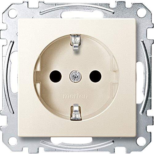 Merten MEG2300-0444 SCHUKO-Steckdose, erhöhter Berührungsschutz, Steckklemmen, weiß, System M