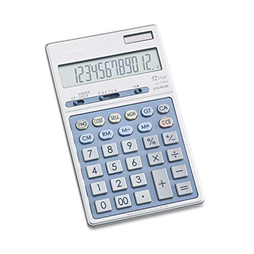 Sharp EL339HB Pantalla de sobremesa Calculadora–12Character (S)–LCD–Recargable/Funciona con energía Solar–6.9quot; X 4.3quot; X 0.7quot;