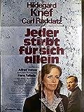 Jeder stirbt für sich allein - Hildegard Knef - Filmposter