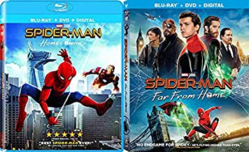 Welcome To The Party Kid: Spider-Man Homecoming (Blu Ray/ DVD/ Digital) + Spider-Man Far From Home (Blu Ray/ DVD/ Digital) 2 Movie SUPER Spidey Bundle MCU Classics