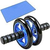BDHH Roue Abdominale Roue Abdominale Home Fitness Equipment AB Rouleau avec Genoux Mat Double Wheel...