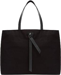 Coccinelle Schultertasche Modell Joy Maxi aus Leder und Stoff Canvas Farbe Schwarz Damen 45 x 35 x 20 cm