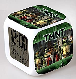 Enjoy Life : Cute Digital Multifunctional Alarm Clock With Glowing Led Lights and Ninja Turtles sticker, Good Gift For Your Kids, Comes With Bonuses (03)