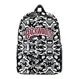 Backwoods Cigar Backpack Backwood Print Laptop Bag Shoulder School Bag Travel Bag for Men Boys Women Girls (O)