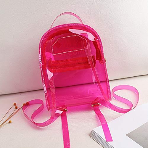 Xzbnwuviei Bedruckte Schultertasche, bedruckter Brief Modischer transparenter PVC-Rucksack für Reisen, Schule, Büchertasche, Tagesrucksack, Schultasche für Teenager Mädchen