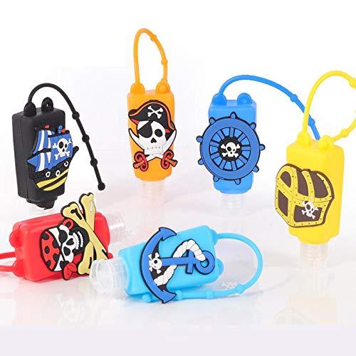 Reiseflaschenset,Tragbare Reiseflaschen Silikon,Silikon Reiseflaschen Klein,Tragbare Reiseflaschen Set,Nachfüllbare plastikflaschen,Tragbare Reiseflaschen Kinder(6pcs) (C)