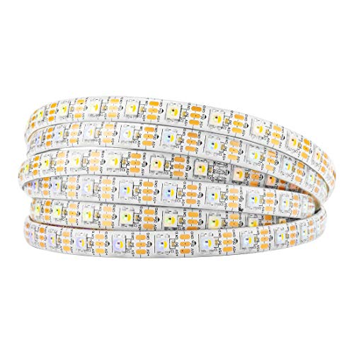 BTF-LIGHTING RGBW RGBNW Natürliches Weiß SK6812 (ähnlich WS2812B) 5m 60leds/pixels/m Individuell adressierbar Flexibel 4 farbe in 1 LED Traumfarbe LED Streifen Wasserdicht IP65 DC5V