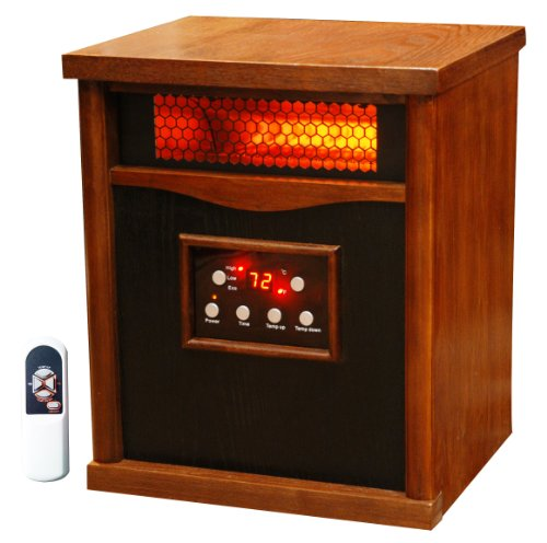 Hot Sale Lifesmart Power Plus 6 Element  1500 Square Foot Infrared Quartz Heater w/Furniture Cabinet Includes Remote