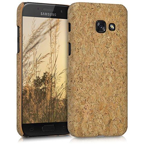 kwmobile Samsung Galaxy A3 (2017) Hülle - Handyhülle für Samsung Galaxy A3 (2017) - Hellbraun - Handy Case Kork Cover Schutzhülle
