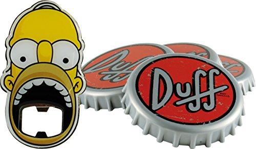 Unitedlabels 0116565 Simpsons - Untersetzer mit Flaschenöffner, 5-teilig Duff Beer