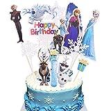 BAIBEI 18Pcs Topper de Tarta Decoración para Pasteles, Fiesta de Cumpleaños DIY Decoración Suministros, Decoraciones para Tarta