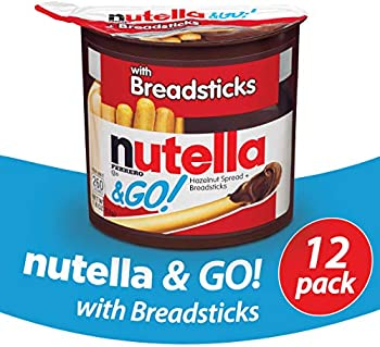 12-Pack Nutella Chocolate Hazelnut Spread With Breadsticks 1.8 Ounce
