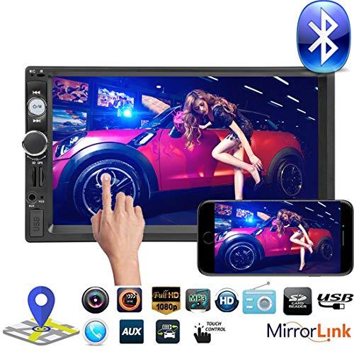 MuChangZi 7 '2DIN Autoradio 1080 P HD MP5 Player Supporto Specchio Link Touch Screen Navigazione GPS Bluetooth Telecomando Radio FM
