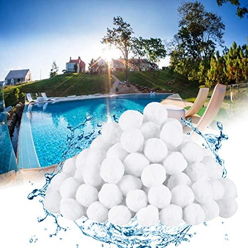 Lunriwis Filter Balls,700g Pool Filterbälle Ersetzen 25 kg Filtersand für Sandfilteranlage.hohe Wasserdurchlässigkeit, Filterbälle für Pool/Filterpumpe/Aquarium Sandfilter