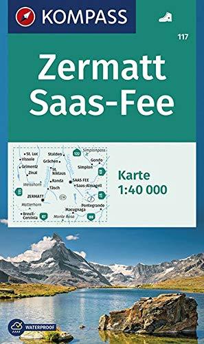 Zermatt, Saas-Fee: Wanderkarte GPS-genau. 1:40000 (KOMPASS-Wanderkarten, Band 117)