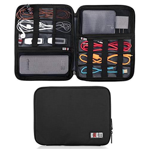 BUBM Organizador Universal de Gear de viaje de doble capa/Electronics Accesorios Bolsa/Funda Cargador de batería