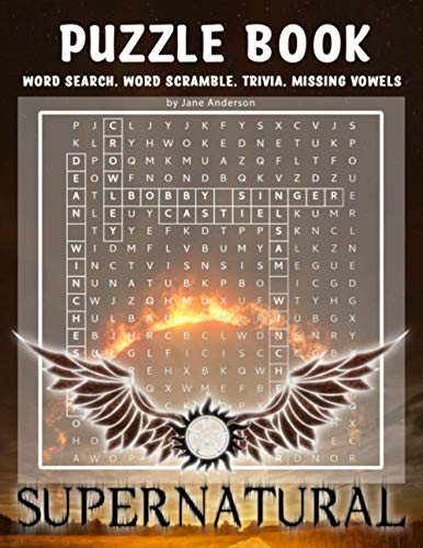 Supernatural Puzzle Book: An Awesome Puzzle Book With Many Fun Games To Relax And Relieve Stress