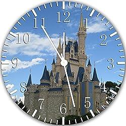 Cinderella Castle Frameless Borderless 10 Wall Clock Z125 Nice for Gift or Room Wall Decor