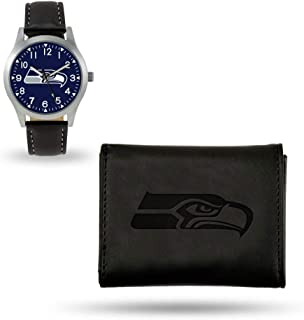 Seattle Seahawks Watch and Wallet Set Black