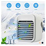 Mini Personal Air Conditioning Units, Wearable AC Portable Air Conditioning and Air Cleaner, USB 2000mAh battery Rechargeable Cooled Air Conditioner, Rapid Cooling In Just 30 Seconds (Gray)