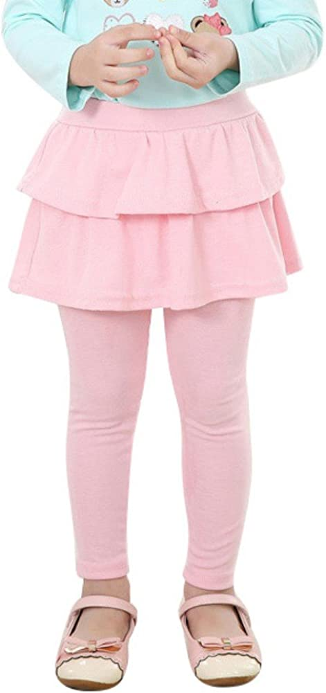 EFINNY Toddler Girls Leggings Baby Tutu Cake Skirt Trousers Tights Pants 3-11Y