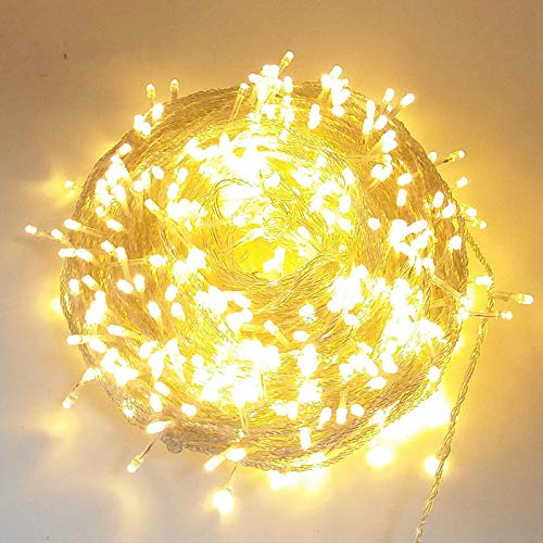zhenxin LED String Light Warm White 5m Led String Fairy Lights Outdoor Christmas Holiday Lights Garlands Wedding Party Garden Decorations