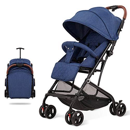 JHTD Triciclo para Bebés, Cochecito De Dirección Plegable, Bicicleta De Aprendizaje con Barandilla Desmontable, Dosel Ajustable, Arnés De Seguridad, Pedal Plegable, Freno