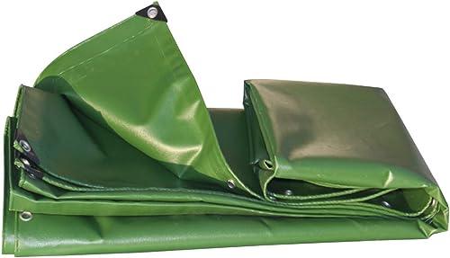 GLJ épaissir Camion Toile Bache Tissu De Pluie Tente Imperméable à l'eau De Prougeection Solaire Tissu Auvent PVC Couverture Pluie Trois Anti-Tissu Armée Vert bache (Couleur   vert, Taille   5x7m)